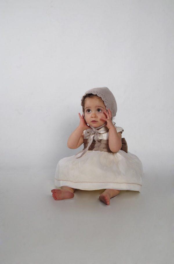 Vestido de bautizo marfil