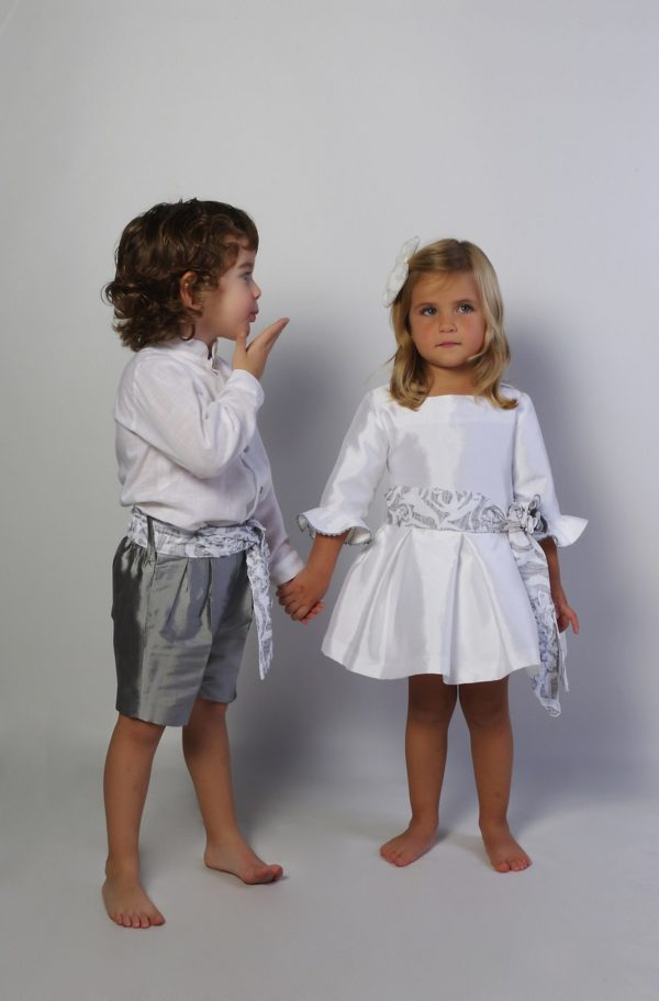 vestido de arras plata Ada