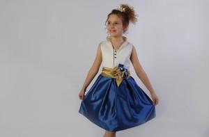 Vestido de arras azul Natalia