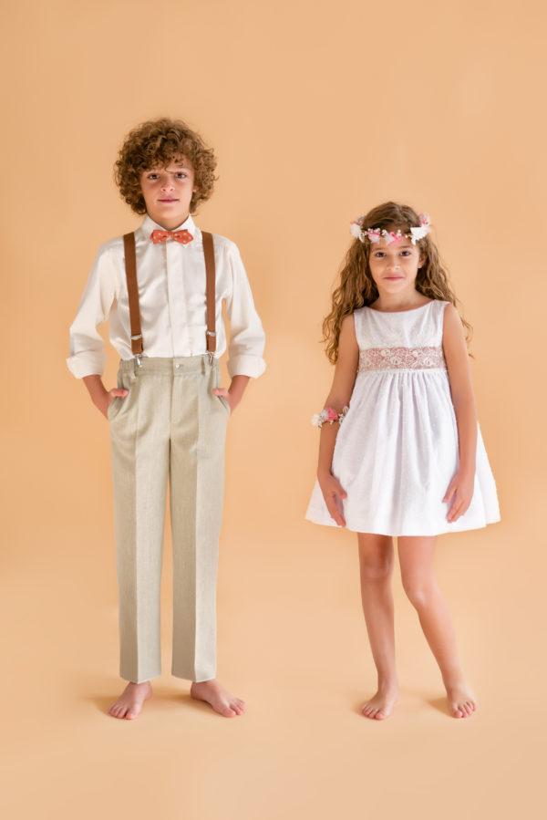 Vestido arras en plumeti blanco