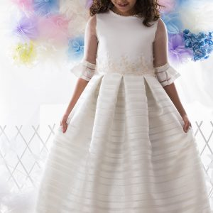 vestido de comunión manga francesa Anais