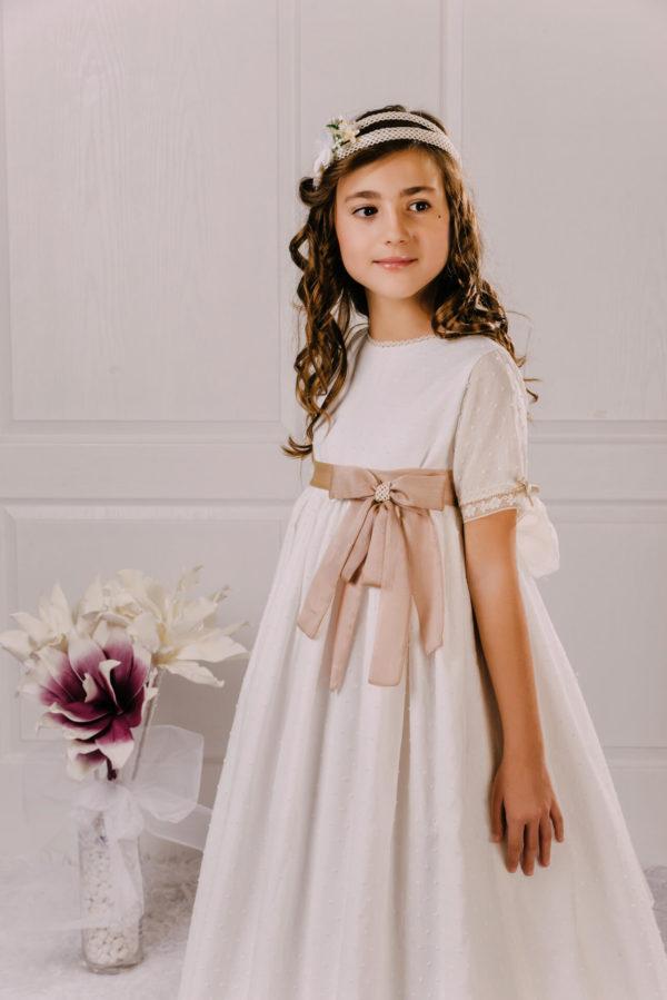 vestido de comunión plumeti Irune