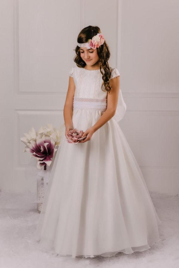 vestido de comunión gasa Adeline
