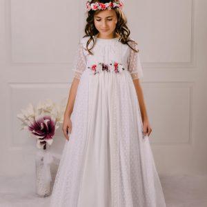 vestido de comunión tul Aline.