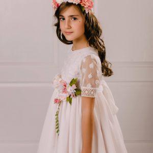 vestido de comunión rosa Anastasia