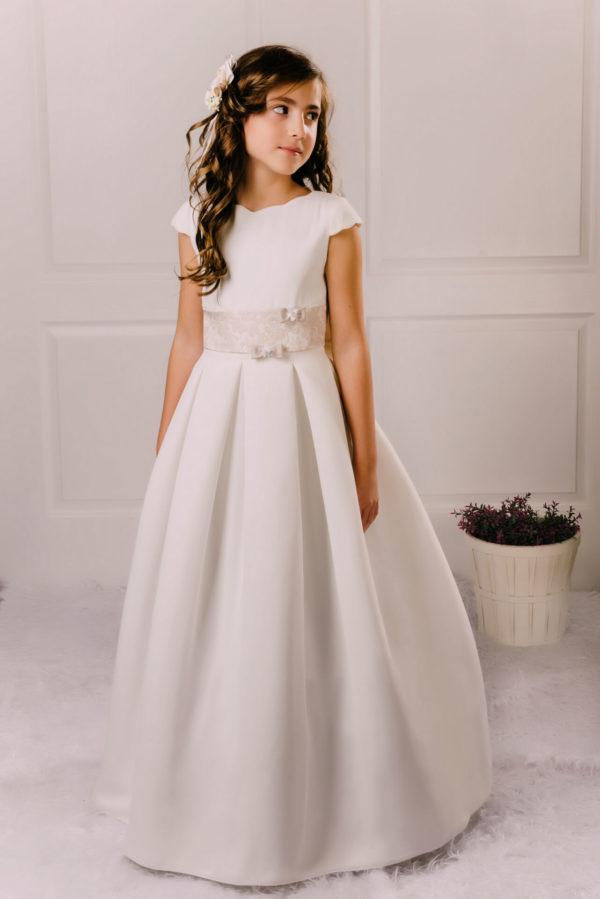 vestido de comunión gasa Gracia