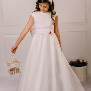 vestido de comunión plumeti Neus