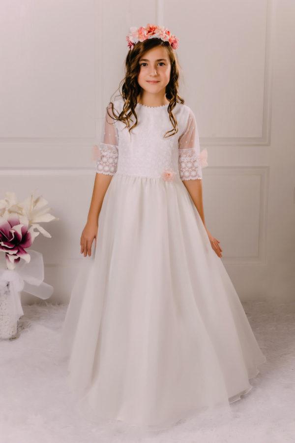 vestido de comunión tul Olivia