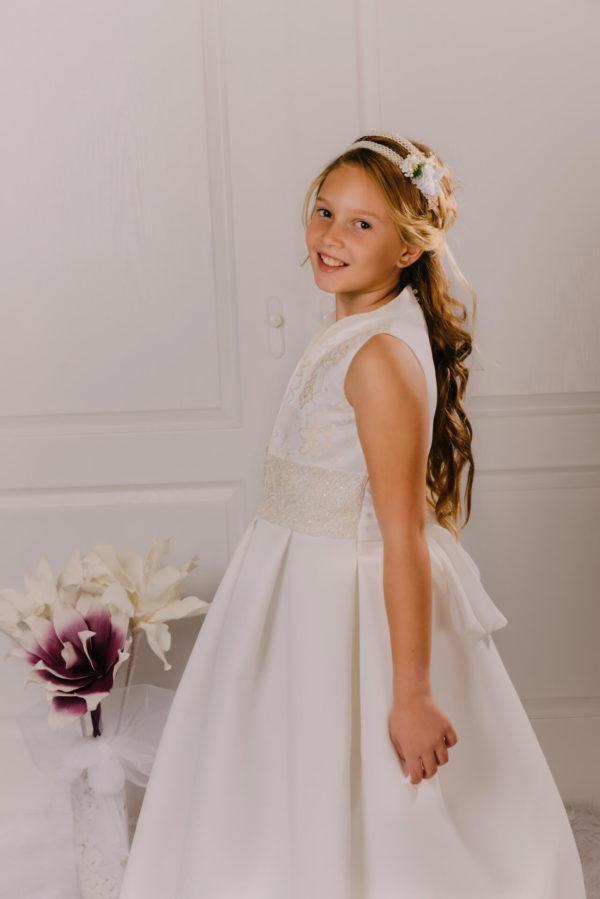 vestido de comunión brocado Iria