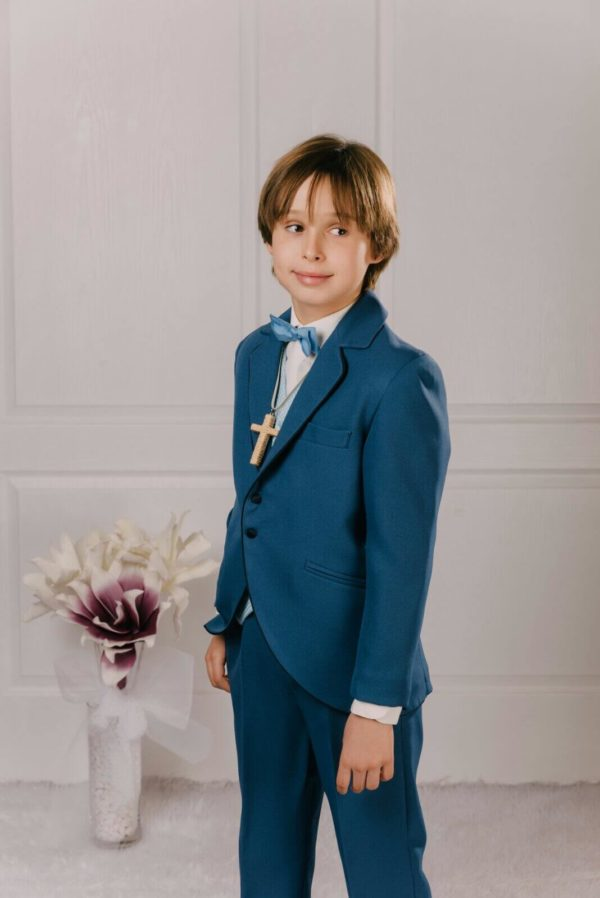 traje chaqueta azul Evans  