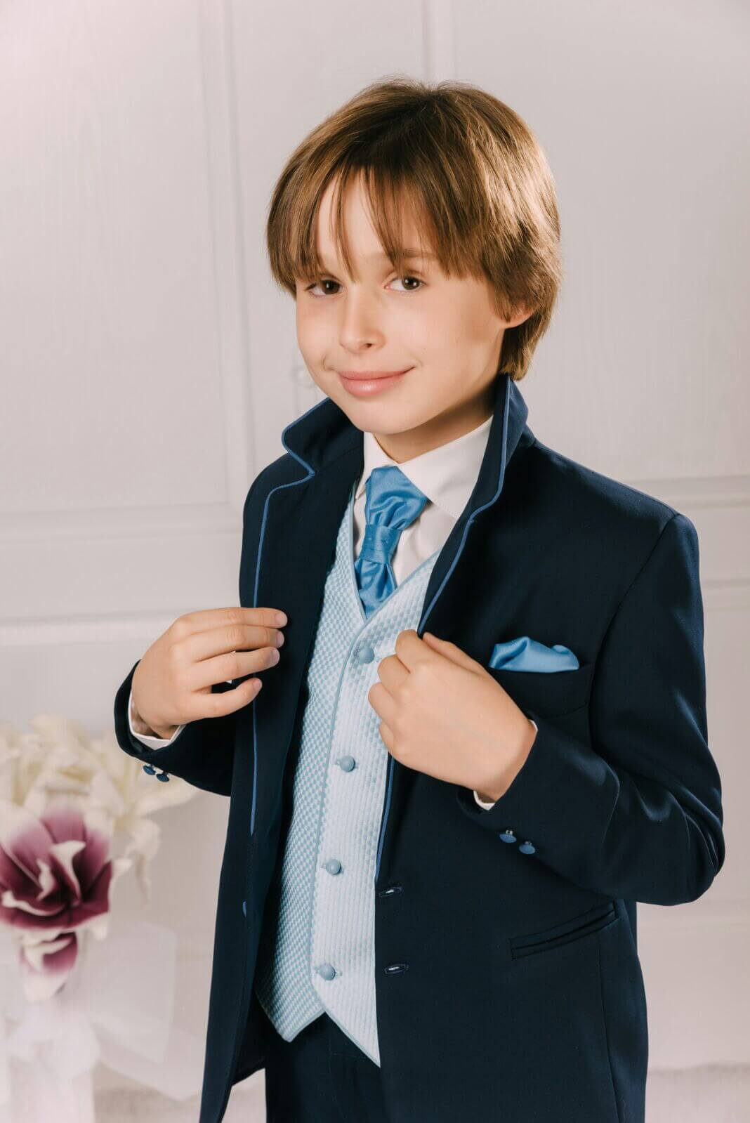 traje chaqueta azul Andoni
