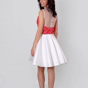 Alediss vestido de invitada con espalda escotada