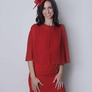 Capa de gasa roja Donna