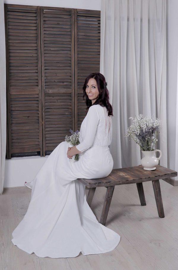 Espalda vestido de novia Nicola