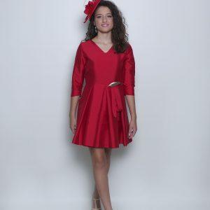 Vestido rojo Nicolle fiesta