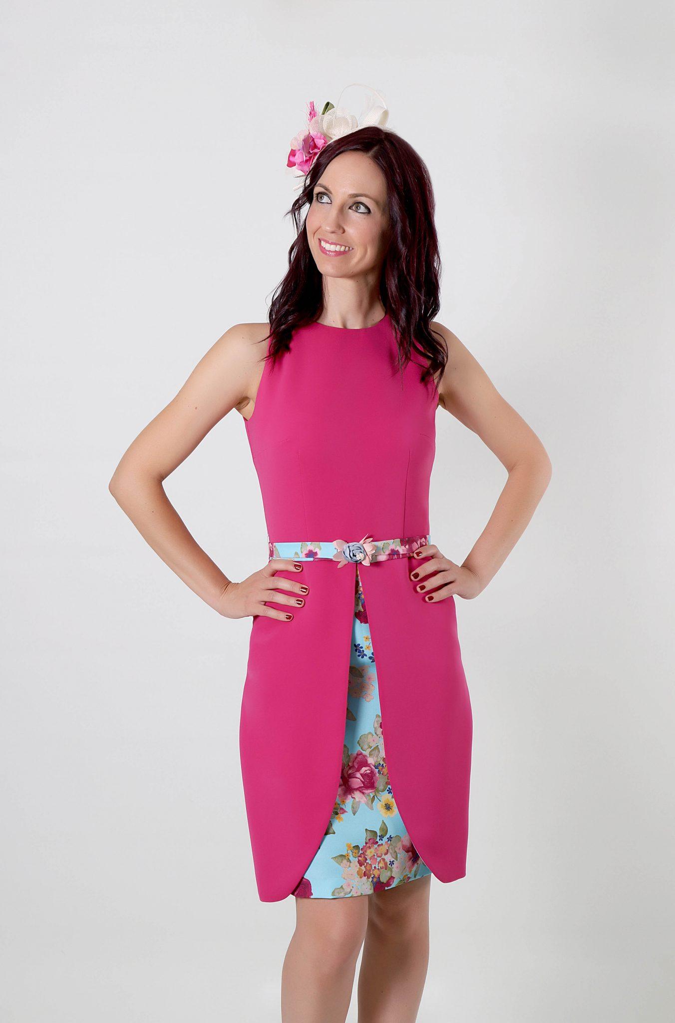 110d3f864 Vestido para fiesta Loretta con falda tulipan