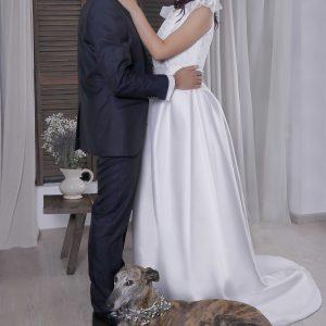 Vestido de novia Arabela con mangas