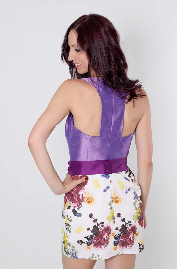 Vestido de fiesta Maxima con espalda abierta