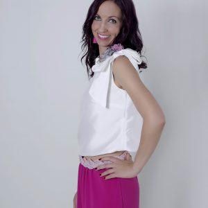 Blusa en seda blanca Nicola