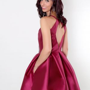 Espalda escotada vestido Priscila para fiesta