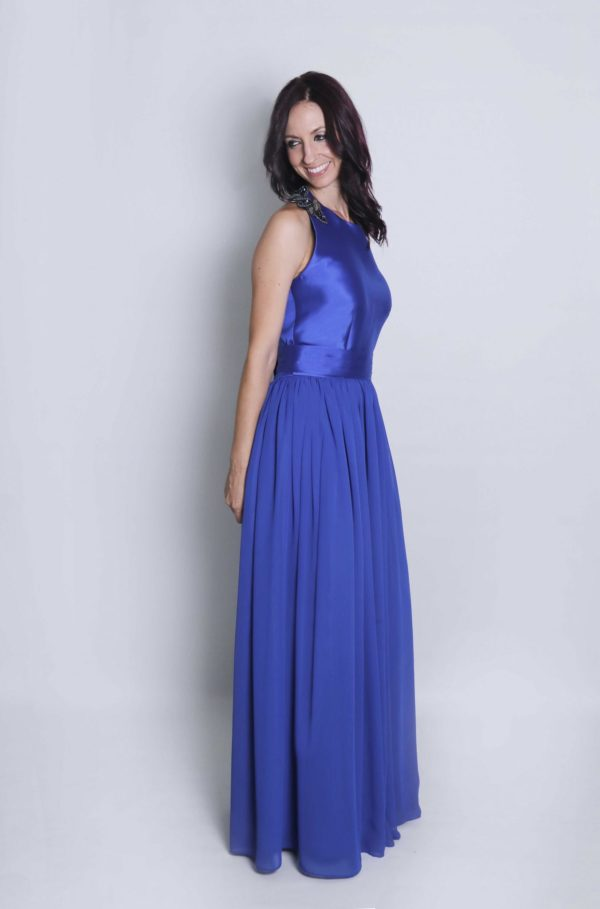 Vestido de fiesta Mia azul klein