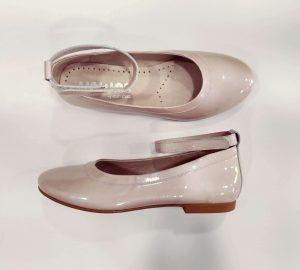 Zapato niña comunión rosa nacarado