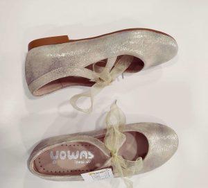 Zapato niña comunión dorado envejecido