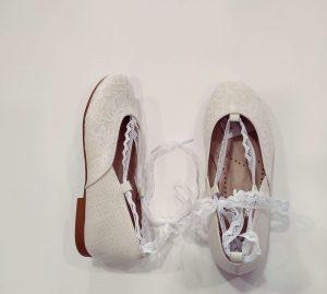 Zapato niña comunión encaje rústico