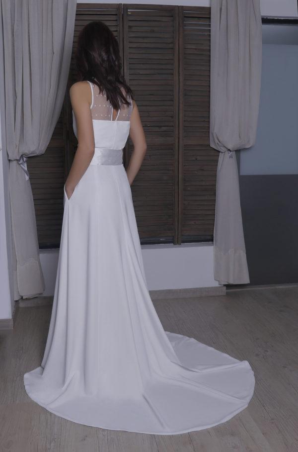 Vestido novia corazón