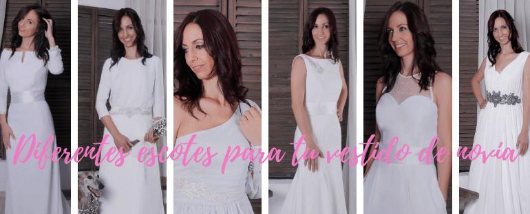 Diferentes escotes para tu vestido de novia