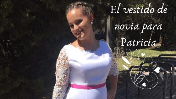 El vestido de novia con toque rosa de Patricia