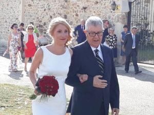 Leticia y su vestido de novia