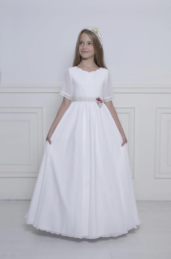 vestido para comunion niña