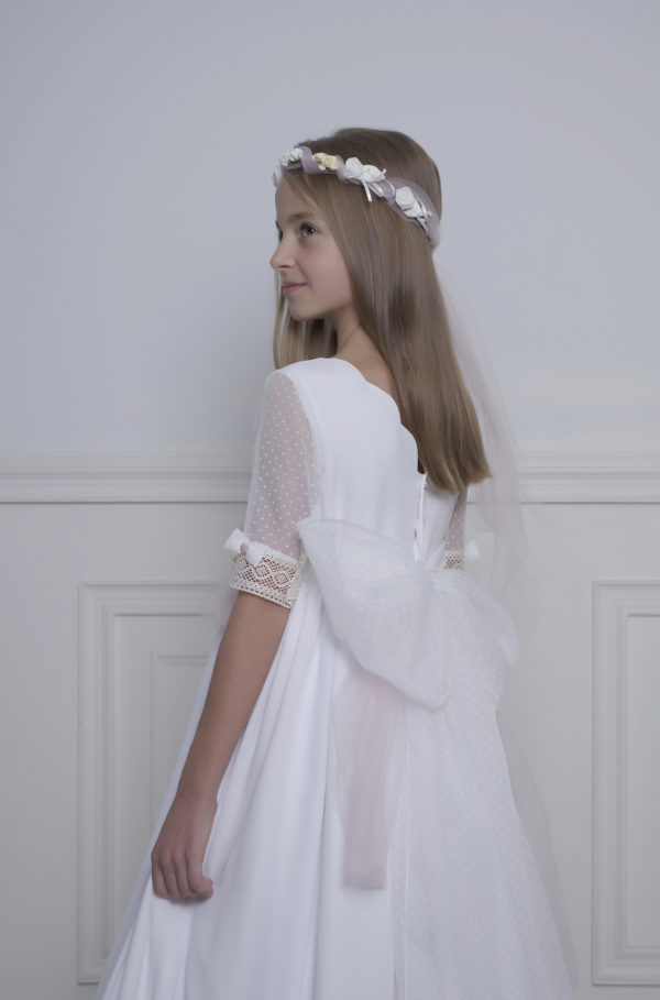 Vestido de comunión plumeti