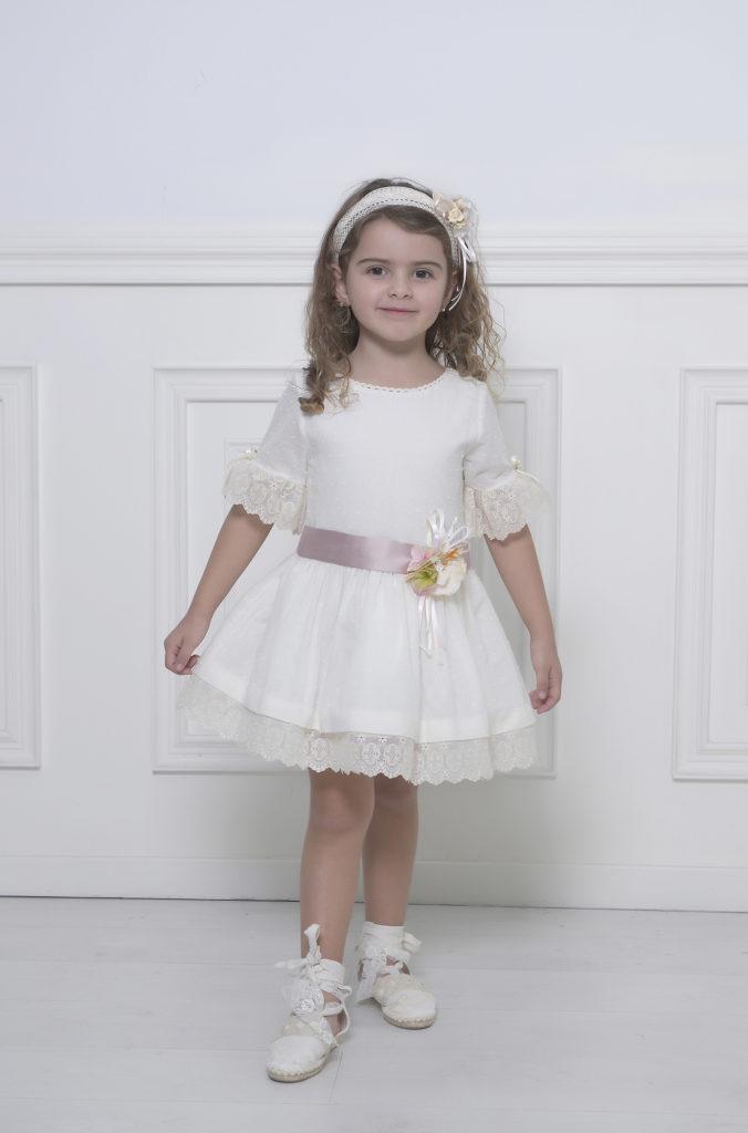 Vestido plumeti niña arras