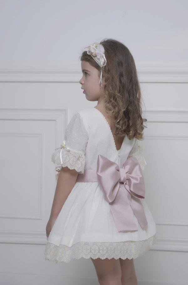 Vestido plumeti niña ceremonia
