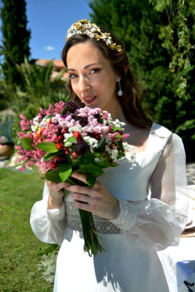 Vestido novia corte imperio