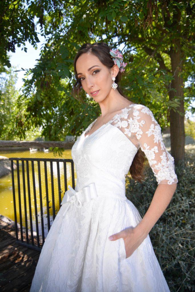 Vestido de novia brocado-min