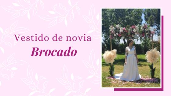 Vestido de novia brocado
