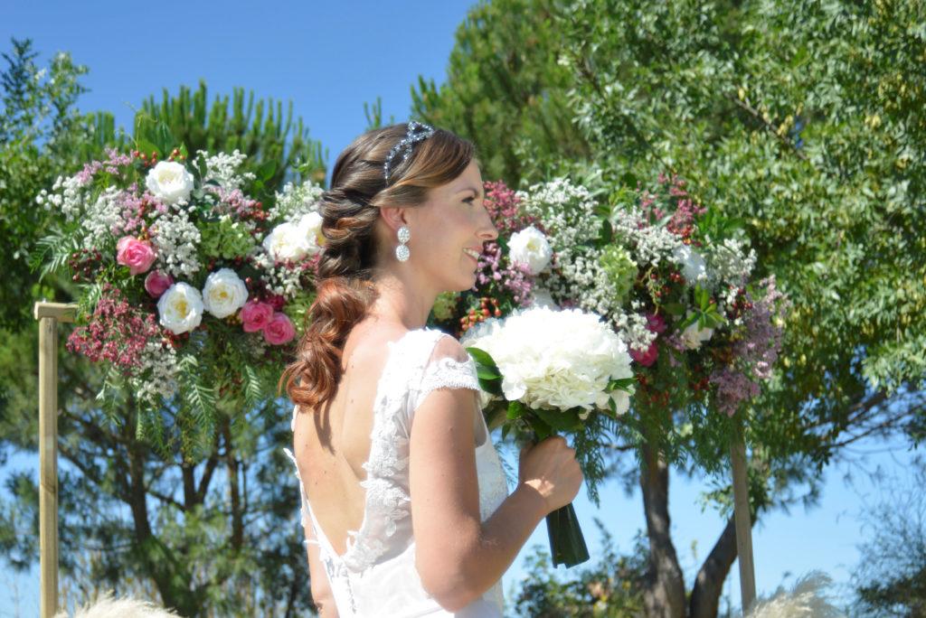 Vestido de novia cuerpo bordado