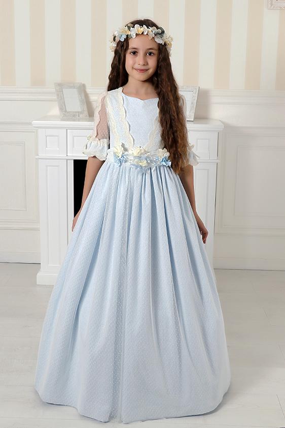 Vestido romántico azul comunión