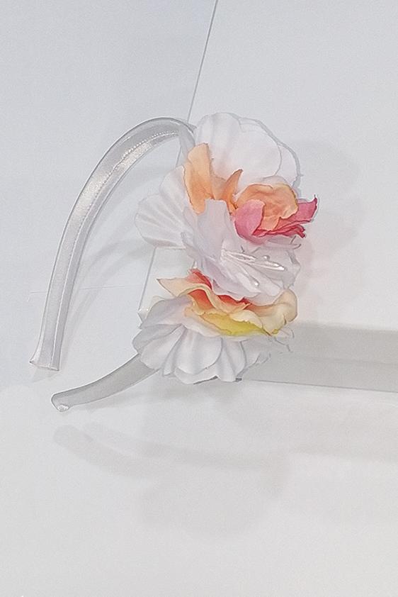 Diadema niña comunion flores