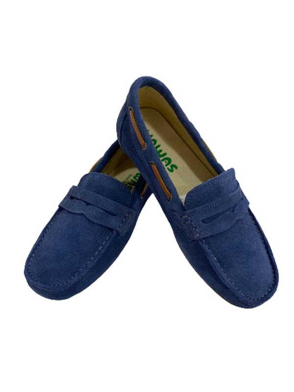zapato mocasín niño azul